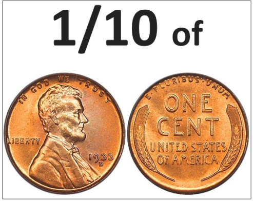 onetenth of a cent